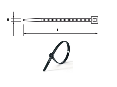 CABLE TIE 250 x 4.8mm (Pkt 100) Black