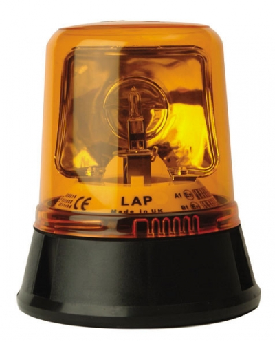 AMBER BEACON 3 BOLT FIXING 12-24V