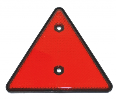 RED TRIANGULAR REFLECTOR