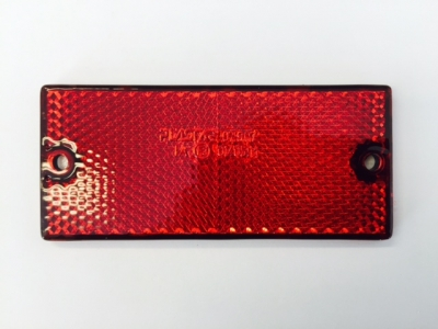 REFLECTOR RED S/ADH+SCREW FIX 90x40mm (79mm Centres)