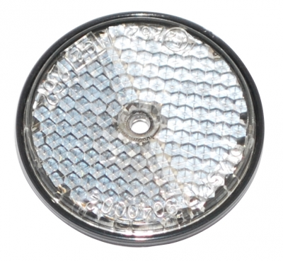 CLEAR REFLECTOR 60MM DIAM BOLT ON