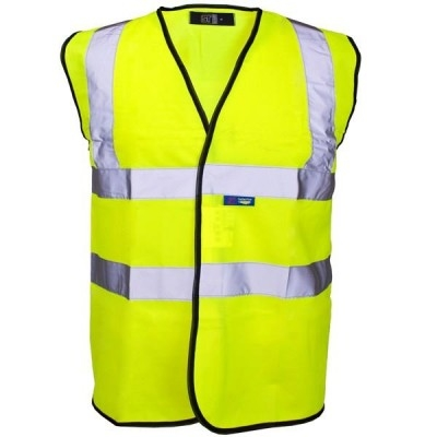 HI-VIS SHORT SLEEVE VEST YLW - SMALL (CLASS 2)