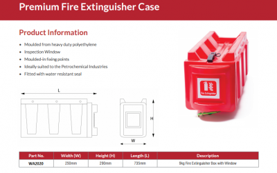B&J FIRE EXT BOX 9KG (PREMIUM)