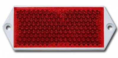 RED OBLONG REFLECTOR