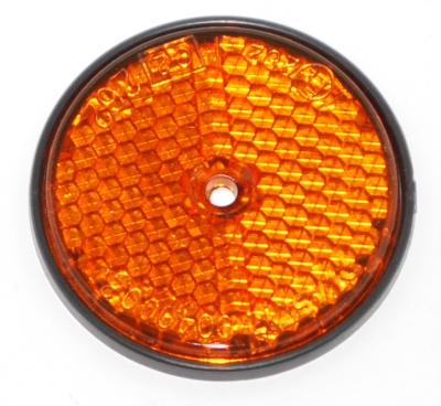 AMBER REFLECTOR 60MM DIAM BOLT ON
